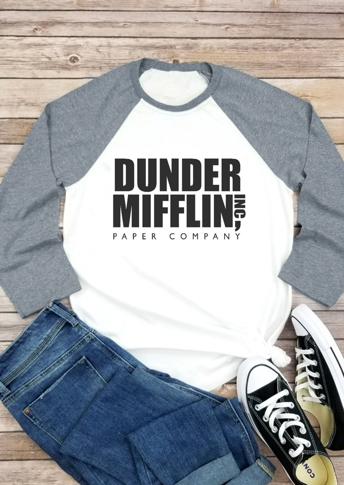 Dunder Mifflin Paper Company Baseball T-Shirt Tee
