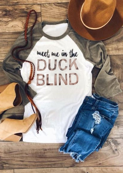 Meet Me In the Duck Blind Baseball T-Shirt
