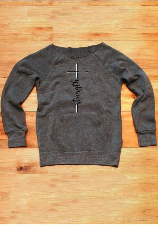 Cross Strength Pocket Long Sleeve Sweatshirt