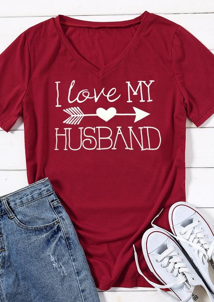 I Love My Husband T-Shirt, Burgundy, 434868