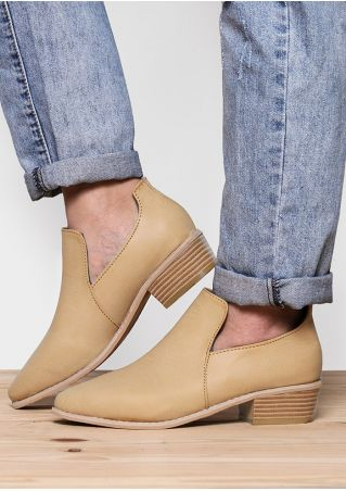 Solid Round Toe Boots