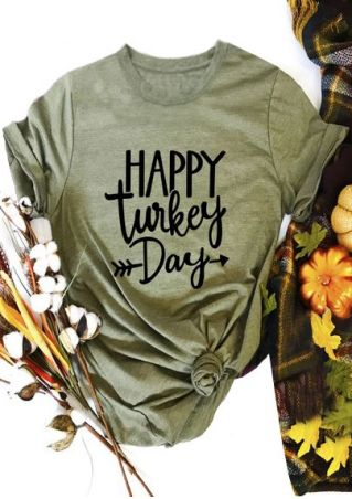 Happy Turkey Day Arrow T-Shirt