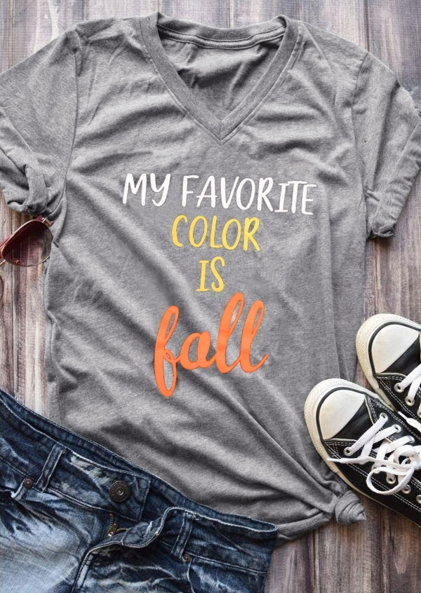 My Favorite Color Is Fall T-Shirt