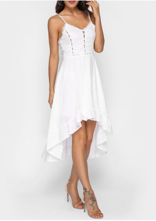Solid Lace Splicing Ruffled Casual Dress