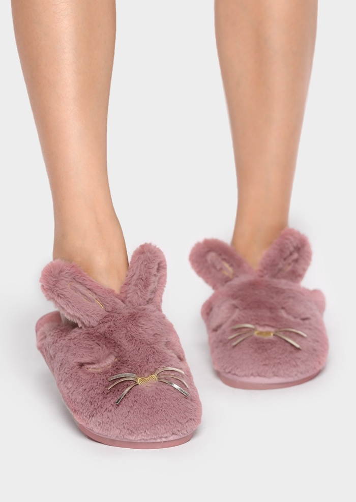 Image of Rabbit Faux Fur Slippers