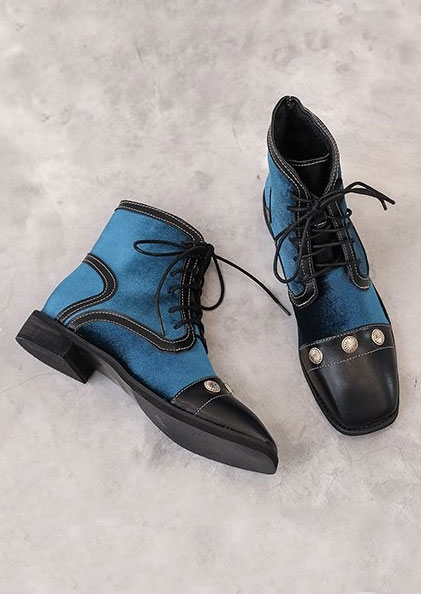 Image of Color Block Lace Up Boots