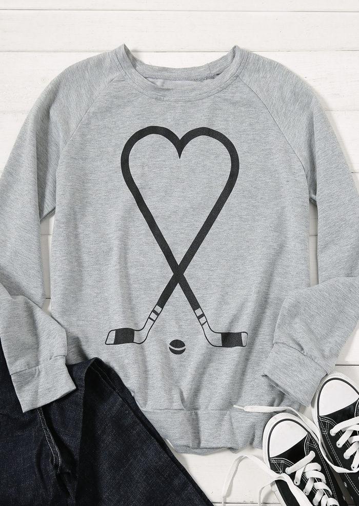 5fce861a9 Golf Heart Raglan Sleeve Sweatshirt - Fairyseason