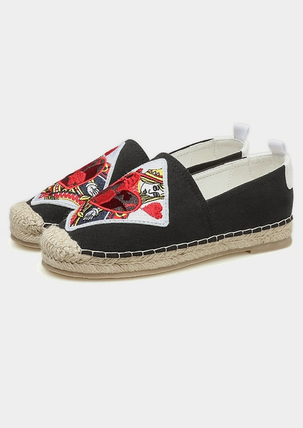 Image of Ethnic Pocker Heart Embroidered Flats