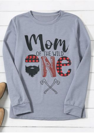 Mom Of The Wild One Plaid Sweatshirt