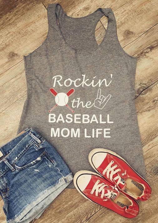 Rockin' The Baseball Mom Life Tank