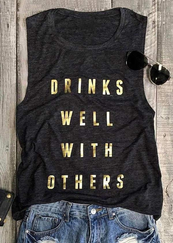 Drinks Well With Others Tank Top фото
