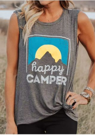 Happy Camper O-Neck Tank
