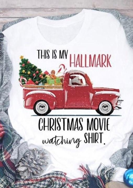 Hallmark Christmas Shirt.Hallmark Christmas Movie Watching Shirt T Shirt Tee