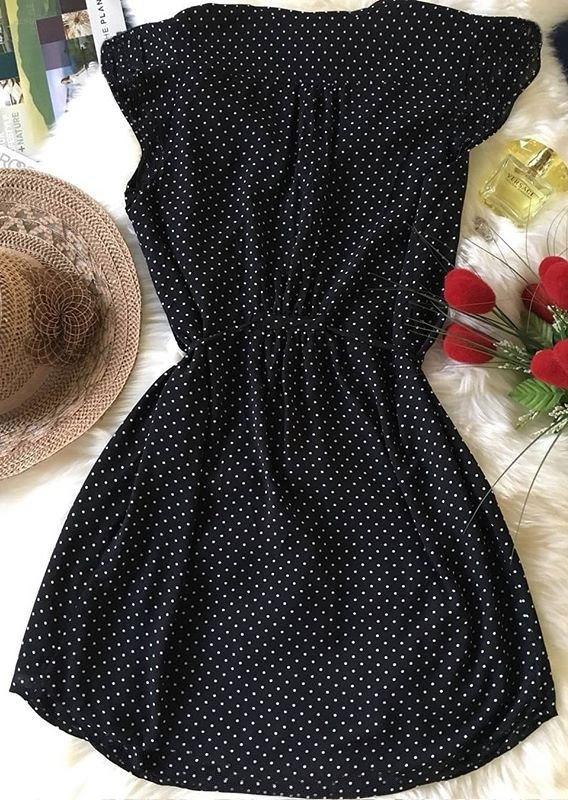 282700acff6 Polka Dot Drawstring Mini Dress - Fairyseason