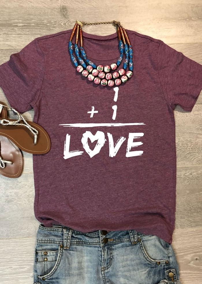 Love O-Neck Short Sleeve T-Shirt Tee