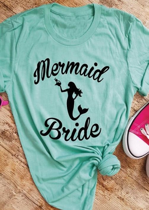 Mermaid Bride O-Neck T-Shirt Tee