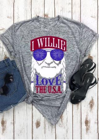 I Willie Love The USA T-Shirt