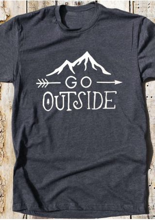 Go Outside Arrow O-Neck T-Shirt Tee