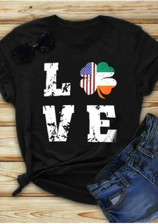 Lucky Irish America Love T-Shirt Tee
