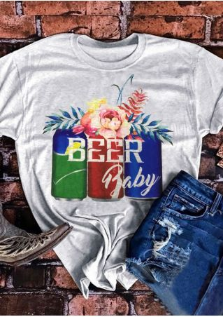 Beer Baby Floral T-Shirt Tee