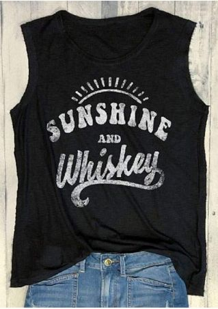 Sunshine And Whiskey O-Neck Tank