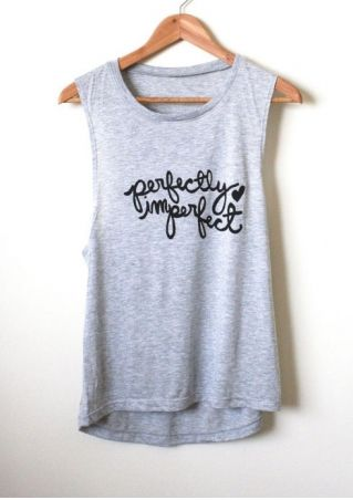 Perfectly Imperfect Heart O-Neck Tank