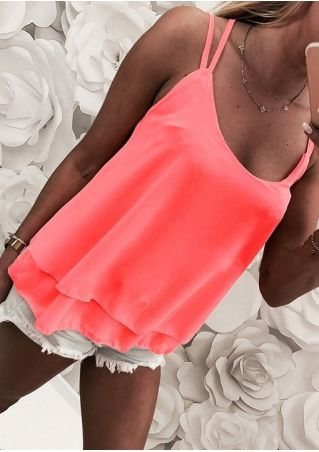 Solid Layered Camisole without Necklace