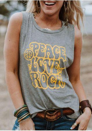 Peace Love Rock Tank