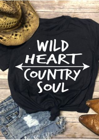 Wild Heart Country Soul T-Shirt Tee