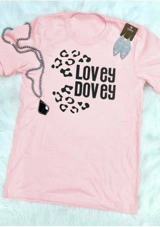 Lovey Dovey O-Neck Short Sleeve T-Shirt Tee
