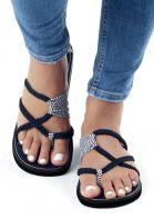 Summer Flip Flops Braided Strap Flat Sandals
