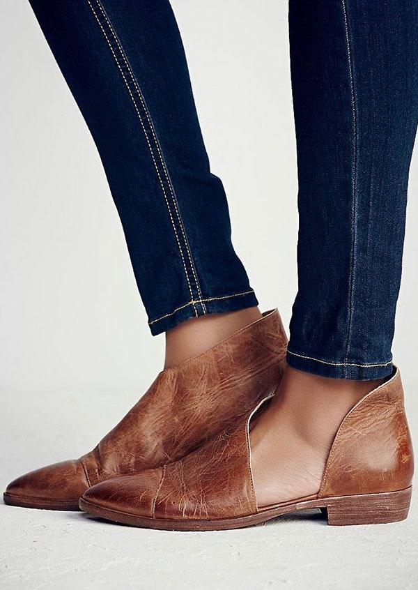Flats Pointed Toe Flats in Black,Khaki. Size: 37,38,39,41 фото