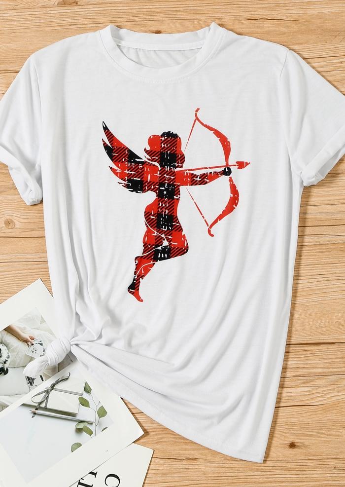 Cupid O-Neck Short Sleeve T-Shirt Tee