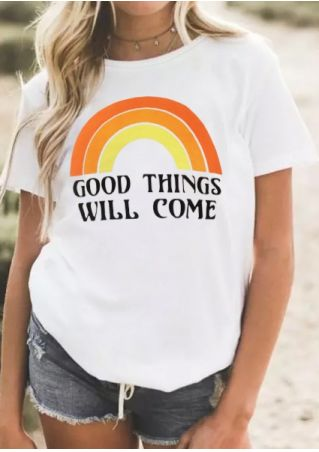 Good Things Will Come Rainbow T-Shirt Tee