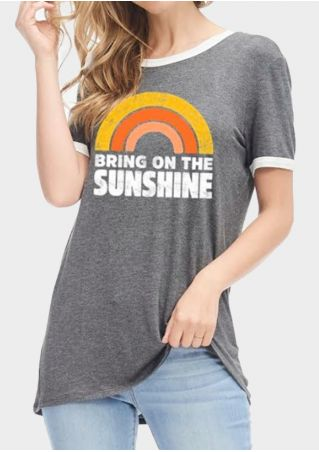 Bring On The Sunshine Rainbow T-Shirt Tee
