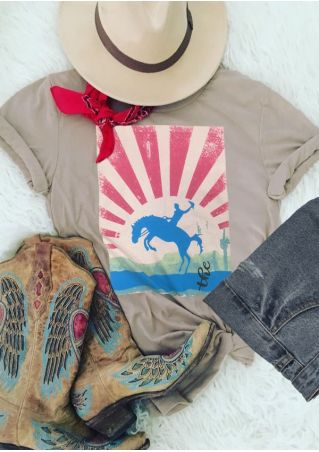 The Horse O-Neck Short Sleeve T-Shirt Tee
