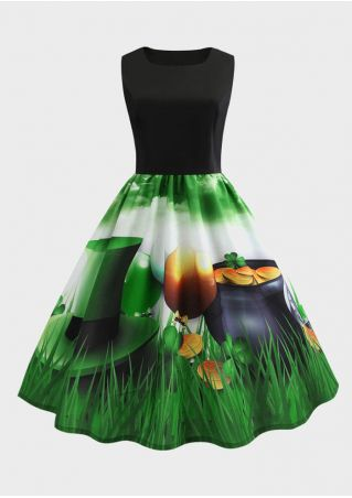 St Patrick's Day Shamrock Casual Dress
