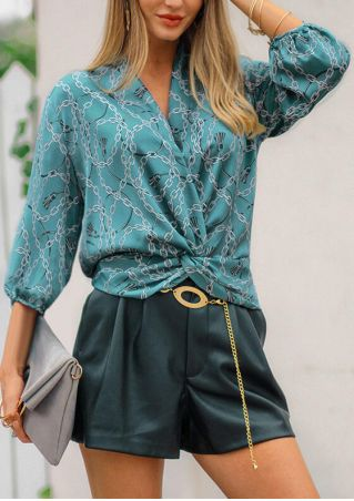 Gold Chain Twist Blouse