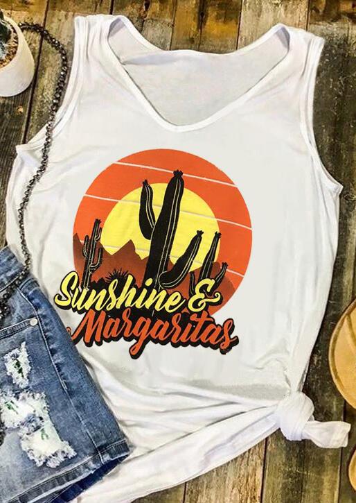 Sunshine Margaritas Cactus Tank