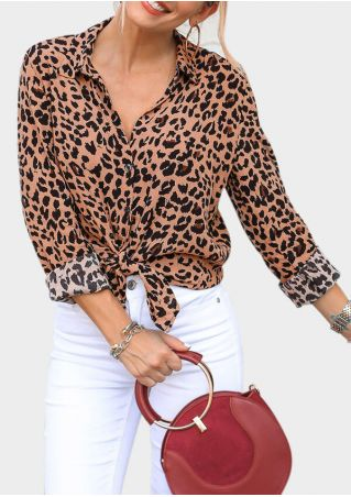 Leopard Printed Long Sleeve Shirt