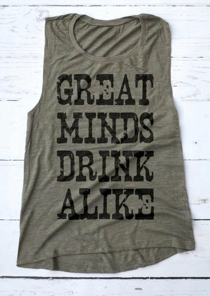 Great Minds Drink Alike Tank – Gray