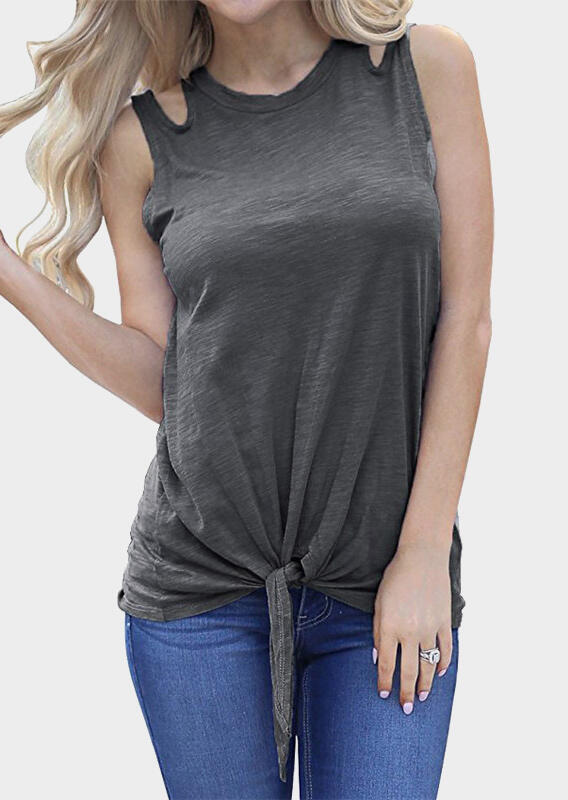Solid Hollow Out Tie Tank