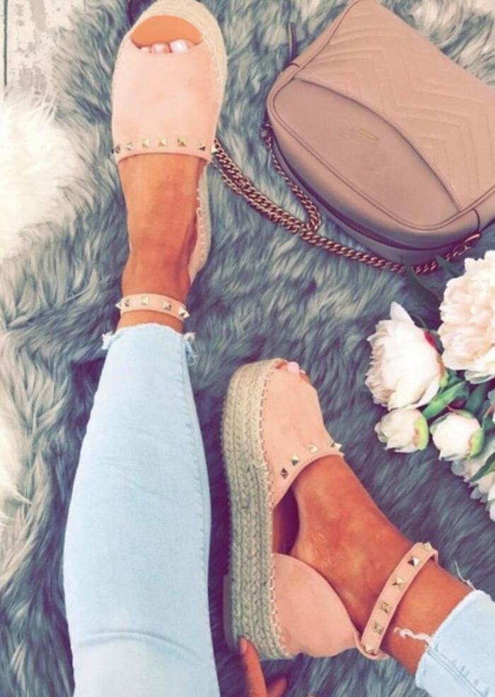 Summer Ankle Strap Peep Toe Sandals