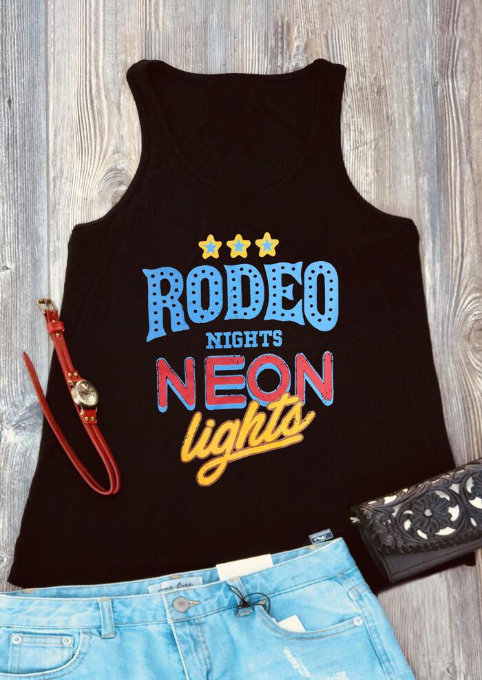 Rodeo Nights Neon Lights Tank