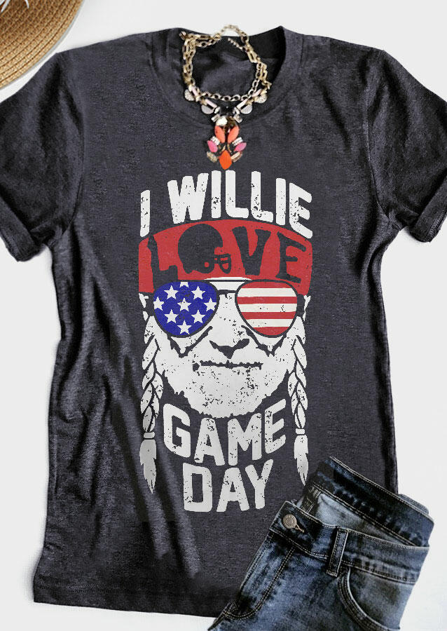 843dc481934 I Willie Love Game Day T-Shirt Tee - Fairyseason