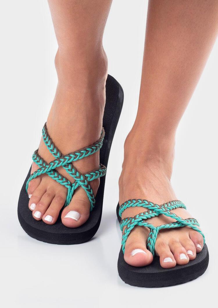 Braid Flip Flop Slippers