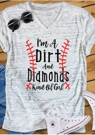 Dirt And Diamonds V-Neck T-Shirt Tee