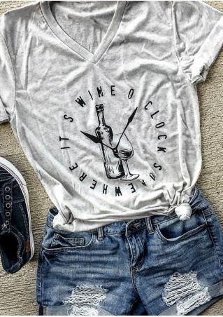 Wine O'Clock Somewhere T-Shirt Tee