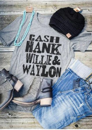 Cash Hank Willie & Waylon T-Shirt Tee