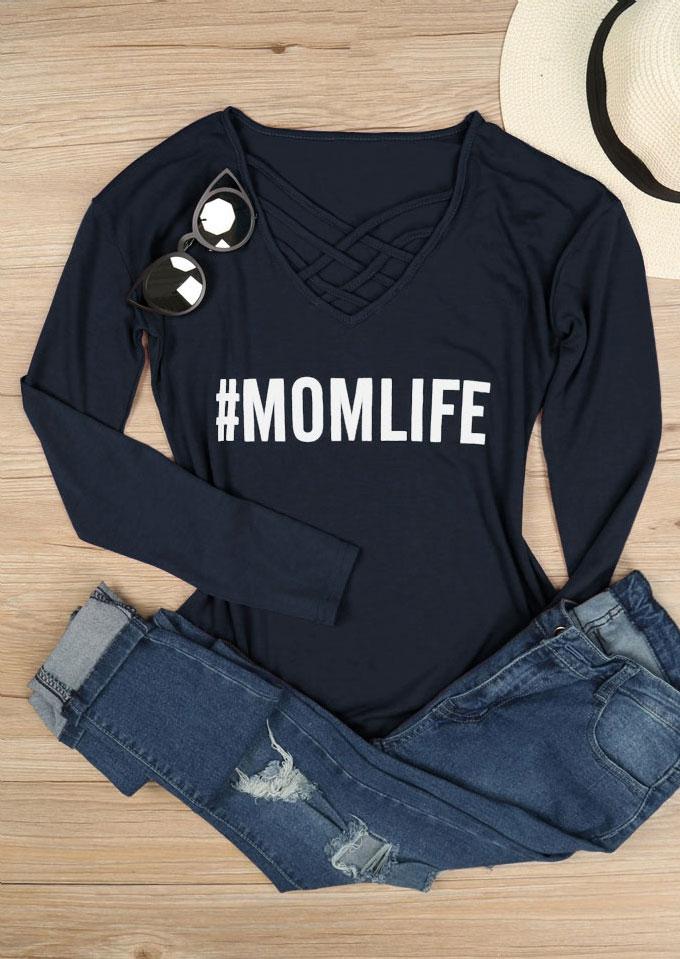 Mom Life Criss-Cross T-Shirt